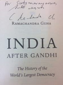 Book autographed by Guha.